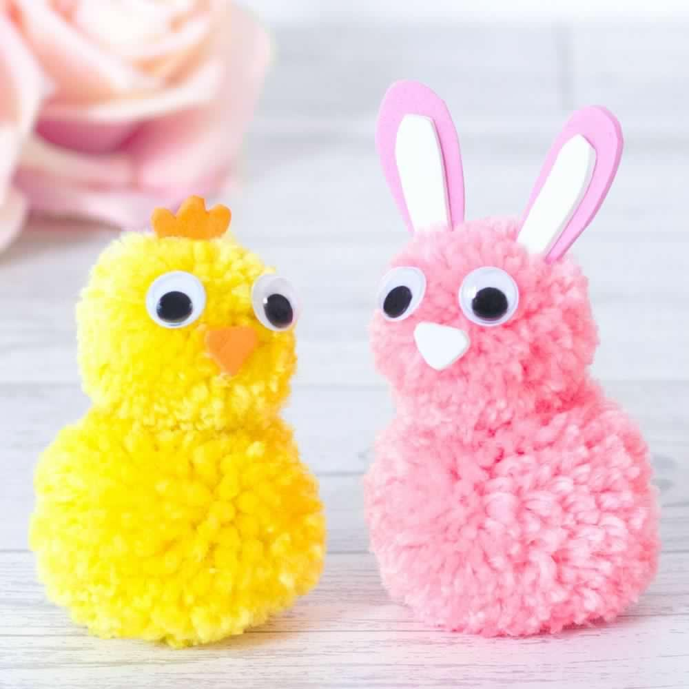 How to make a pom pom Easter chick?